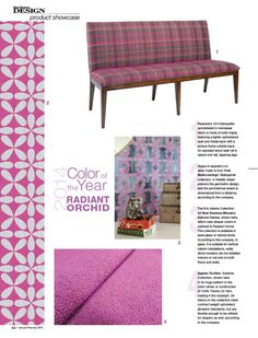 Daisies, a glass waterjet mosaic by Erin Adams for New Ravenna Mosaics, is included in the Radiant Orchid feature by Hotel Business Design.