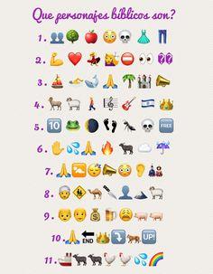 Adivinanza bíblica de personas ! Emoji Emoji Quiz, Emoji Games, Bible Trivia Quiz, Bible Quiz, Bible Games For Youth, Youth Group Games, Bible Emoji, Emoji Answers, Caleb Y Sofia