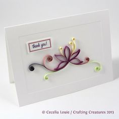 Paper Zen: Quilled Thank You Card