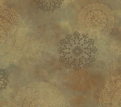 Haven Henna Medallion Espresso Wallpaper HAV40827
