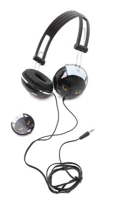 Diane von Furstenberg Cat Headphones- truly love these! DVF makes up for all the times my cats have taken Mark's headphones and dragged them into the cat fountain!