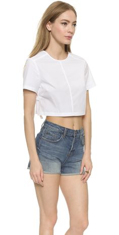 Marc by Marc Jacobs Short Sleeve Crop Top | SHOPBOP