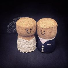 Handmade cork bride and groom. Very effective and looks fantastic with a wine th., Handmade cork bride and groom. Very effective and looks fantastic with a wine theme wedding or if youre just looking for something a little differen. Diy Wedding Veil, Wedding Gifts For Bride And Groom, Diy Wedding Gifts, Wedding Crafts, Bride Gifts, Wedding Themes, Wedding Colours, Wedding Dj, Wedding Groom