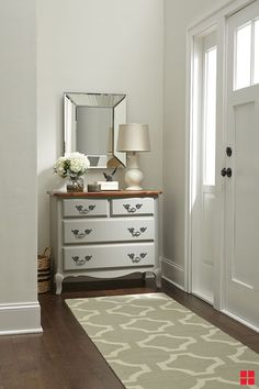 Chalked Ultra Matte paint is perfect for achieving a soft, antique finish that looks great by itself or distressed. It transforms a standard small dresser into a vintage, storage friendly entryway table.