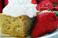 An easy (and eggless!) yellow cake!