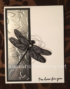 Metal meets nature. That is the theme of this card. Have you tried embossing the Layered Leaves with the silver foil sheets? The effect...