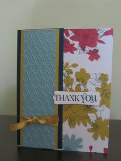 Switch up the paper, the embossing folders and the saying and even the colours and you got a quick easy card that you can create in less than 20 minutes.