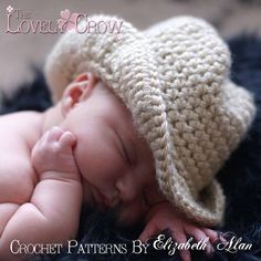 Cowboy Hat Crochet Pattern Baby for BOOT SCOOT'N by TheLovelyCrow, $5.95