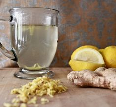 hot water with lemon and ginger for digestion