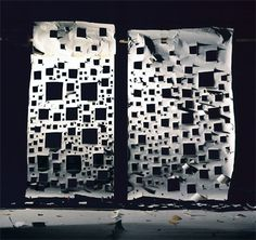"""""""Holes in White and Holes in White Lit from Front"""" _David Haxton Photography Collage, Still Life Photography, No Way Out, Installation Art, White Light, David, Interiors, Decoration Home, Decor"""