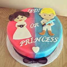 Star Wars Gender reveal cake #cake #cakes #buttercreamcake #starwars…                                                                                                                                                                                 More