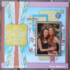 My Creative Scrapbook July Creative Kit Echo Park Papers- Summer Party Scrapbooking, Papercrafting