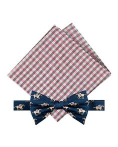 DKNY Mens Light Purple Dotted Pre-Tied Bow Tie