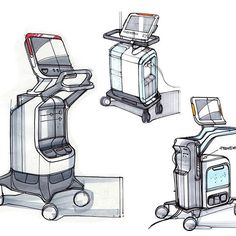 A peak at some medical cart ideation sketches from our design team. . . . #farmdesign #industrialdesign #designprocess #designsketching #medicaldesign