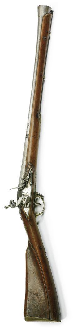 A TIPU SULTAN MILITARY FLINTLOCK BLUNDERBUSS (BUKMAR), SERINGAPTAM, DATED MAWLUDI YEAR 1223 (1793)