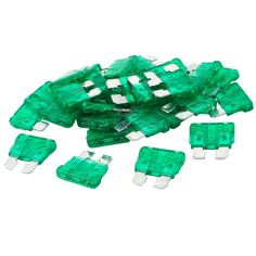 uxcell 30 Pcs 30A Car SUV Plug in Blade Fuse Green