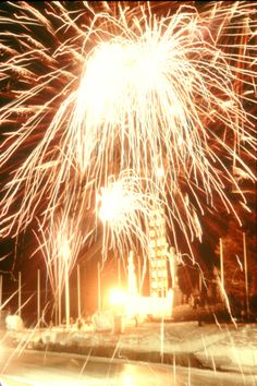 Opening ceremony fireworks for the 1960 Winter Games at Squaw Valley
