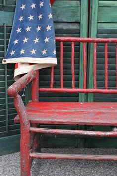 Loving the bench  love red white and blue  and not just for the 4th of July  ...