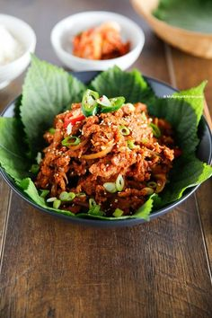 Spicy Pork Bulgogi Rice Bowl - My Korean Kitchen Pork Recipes, Asian Recipes, Cooking Recipes, Healthy Recipes, Korean Dishes, Korean Food, Korean Bbq, Chinese Food, Pork Bulgogi Recipe
