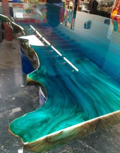 Colour epoxy blue ocean designed by Ccoating.nl