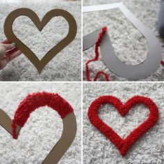 25 romantic Valentine& Day gifts to make yourself - the best .- 25 romantische Valentinstag Geschenke Selber Machen – die besten Ideen – 25 romantic Valentine& Day gifts to do yourself – the best ideas – Best Picture F - Valentine Day Wreaths, Valentines Day Decorations, Valentine Day Crafts, Valentine Heart, Holiday Crafts, Kids Valentines, Heart Decorations, Decoration St Valentin, Crafts For Kids