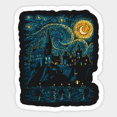 Magical World Harry Potter Starry School Vinyl Decal Wall Decor Laptop Sticker Bubble Stickers, Meme Stickers, Phone Stickers, Cool Stickers, Printable Stickers, Planner Stickers, Sticker Shop, Sticker Design, Harry Potter Stickers