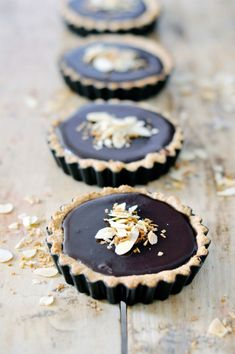 Coconut + Chocolate Tart (vegan,gluten-free)