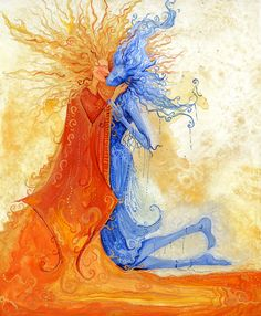Sun and Moon Love - 2006 Based off of Gustav Klimt's The Kiss Acrylic