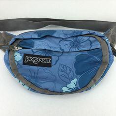 Jansport Blue Floral Fanny Pack | eBay