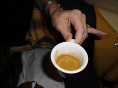 I should have known that it was full octane power by the size of the cup.  Whew strongest coffee I have ever had.  Italy!