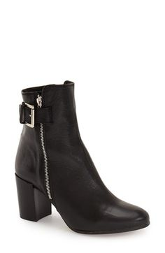 Free shipping and returns on Topshop 'Mega Buckle' Bootie (Women) at Nordstrom.com. Polished silvertone hardware and a slender ankle strap accent a slim-cut boot done up in supple leather for effortless, street-chic style.
