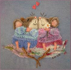 Catherine Howell (These are the cutest, most darling little embroidered mice I have ever seen in my life <3)