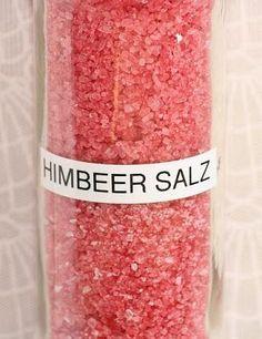 Kreative Ideen rund ums Basteln, Scrapbooking , Kochen und Backen: Himbeer Salz