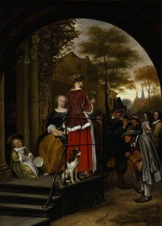 Musicien ambulants - Jan Steen - Vermeer and the Masters of Genre Painting - Wikimedia Commons Your Paintings, Beautiful Paintings, Landscape Paintings, Baroque Painting, Baroque Art, King Spaniel, Charles Spaniel, Dutch Golden Age, Dutch Painters