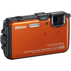 Nikon  CoolPix AW100 Waterproof and Shockproof Digital Camera - Orange
