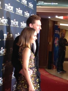Tom Hiddleston, Natalie Portman attend 'Thor: The Dark World' Premiere at Le Grand Rex on October 23, 2013 in Paris, France