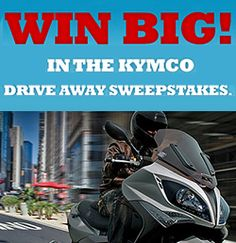 Win a KYMCO Scooter