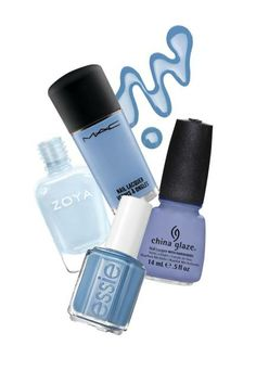 Go baby blue for spring China Glaze Nail Lacquers #chinaglaze #OPI @opulentnails