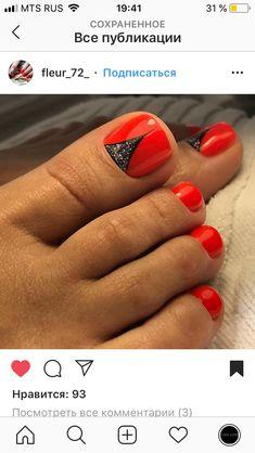 Pretty Toe Nails, Cute Toe Nails, Sexy Nails, Classy Nails, Hot Nails, Toe Nail Art, Hair And Nails, Manicure Y Pedicure, Pedicures