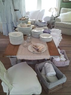 The prairie by rachel ashwell shabby chic couture store round top vintage dining table Darcy chairs