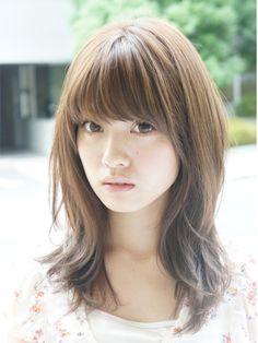 Japanese hairstyle - medium   http://www.beauty-box.jp/style/medium/alip054/#