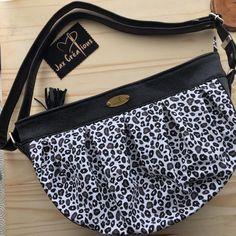 Sac Cancan léopard noir et blanc cousu par Jax Créations - Patron Sacôtin