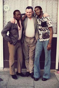 "Friends Down The Pub, East End, London, England, United Kingdom, 1973-80, photograph by Bandele ""Tex"" Ajetunmobi."
