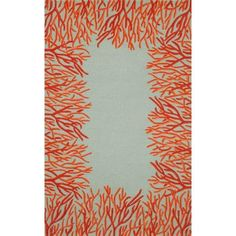 Go coastal with your indoor or outdoor décor by selecting the Liora Manne Spello Coral Border Indoor/Outdoor Area Rug . This beige rug features. Orange Area Rug, Orange Rugs, Blue Area Rugs, Orange Orange, Orange Beach, Coastal Area Rugs, Coastal Decor, Coastal Style, Coastal Living
