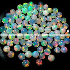 10 pieces 3mm ethiopian opal cabochon round top quality multi