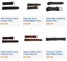 Sport Leather Watch Bands