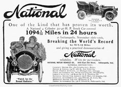 On 17 November, 1905, two National Model C cars began the 24 hour, driven by W....