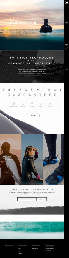 Volte Wetsuits (More web design inspiration at topdesigninspiration.com) #design #web #webdesign #sitedesign #responsive #ux #ui