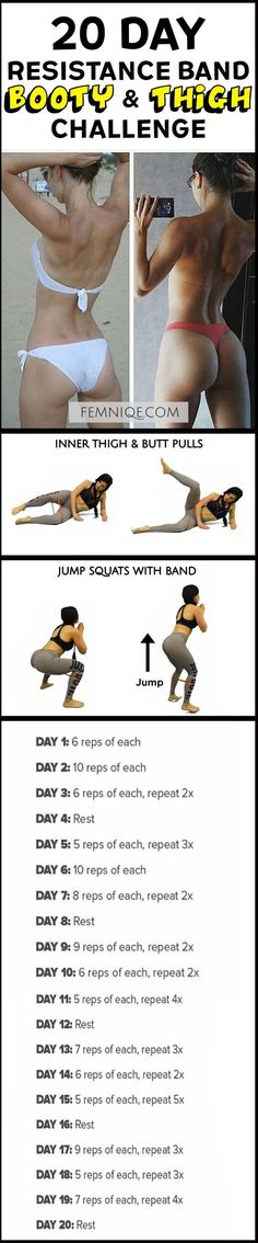 How To Get A Bigger Butt Workout Using Resistance Bands -Bigger Butt Workout at Home For Women - This uniqe and intense routine is one of the best exercise for butt and thighs. After a week you will start to see noticeable changes! (How To Get A Bigger Bu http://amzn.to/2rsrXXL