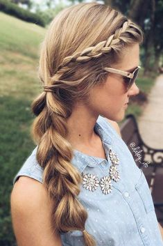 Play With Volume ❤️ A headband braid, also known as a crown or a halo braid, is a cute half updo or updo hairstyle with a braid around a head. And as for the type of a braid involved, any braid would do here. Make a choice based on your taste. ❤️ See more: http://lovehairstyles.com/cute-headband-braid-hairstyles/ #lovehairstyles #hair #hairstyles #haircuts #headbandbraid #braids